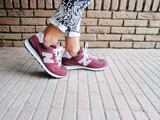 new balance bordeaux ootd